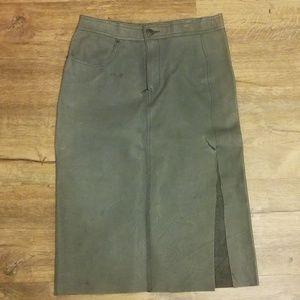 Diesel leather skirt